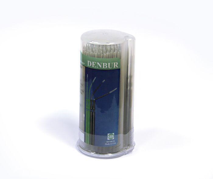 Аппликаторы-кисти для нанесения бонда и травителя, черные, короткие, 100 шт,  Master-Brush