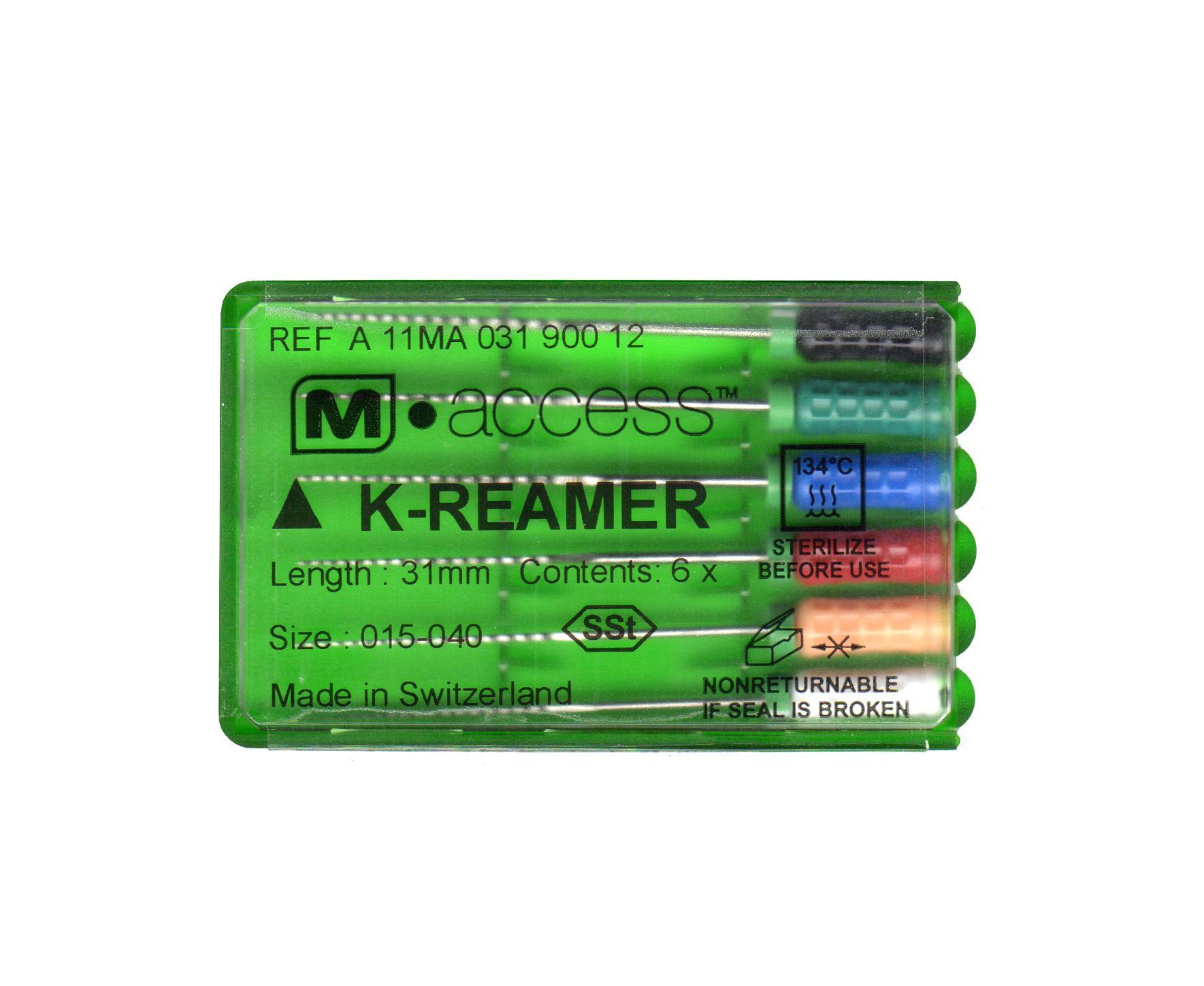 Инструмент ручной Maillefer K-Reamer M-Access №45-80 21мм A11MA02190112