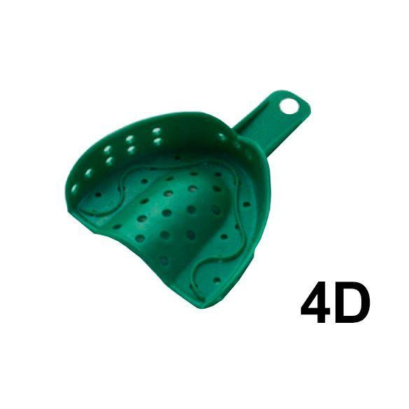 Слепочные ложки пластмассовые, перфорированные, 12 шт, №4 D,  GC
