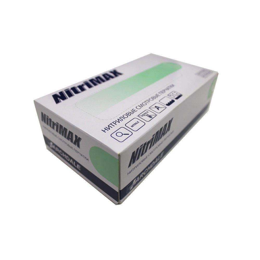 Перчатки нитриловые зеленые размер XL, 100 шт, ARCHDALE