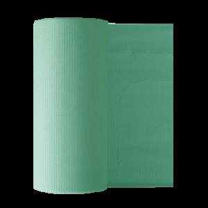 Бумажные фартуки в рулонах для пациентов 80 шт, зеленые Euronda