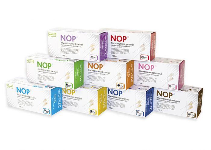 Иглы инъекционные дентальные стерильные однократного применения NOP 30Gx21мм (уп/100шт), Spident
