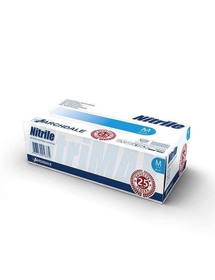 Перчатки нитриловые голубые размер XL, 100 шт, TOP GLOVE SDN