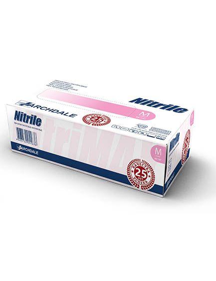 Перчатки нитриловые розовые размер XL, 100 шт, TOP GLOVE SDN