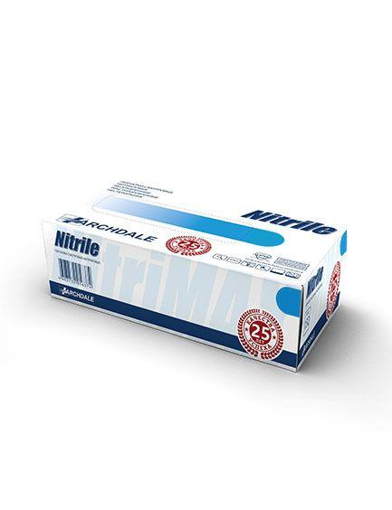 Перчатки нитриловые голубые размер XL, 100 шт, ARCHDALE
