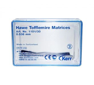 Матрицы Hawe Neos Dental контурированные, 0,038м, 30шт