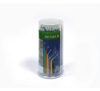 Аппликаторы Denbur Multi-Brush Medium бирюзовые, диспенсер 100шт