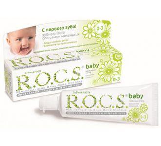 Зубная паста ROCS Baby Нежный уход Ромашка 45г