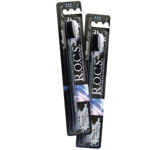 Зубная щётка ROCS Black Edition Классик средняя