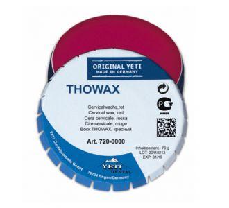 Воск Yeti THOWAX пришеечный , цвет красный, баночка 70 г.,