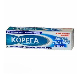 Фиксирующий крем Корега для зубных протезов, экстра мятный вкус,  70г