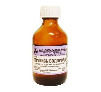 Раствор перекиси водорода 3% СМП Самарамедпром, 50 мл., 70 стекл.фл/уп